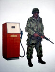 Soldier Guarding Pump