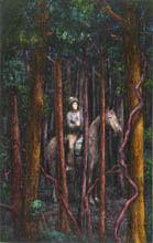 Horseman in the Woods